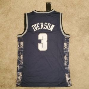 Allen Iverson Georgetown Stitched Jersey New